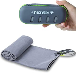 4Monster Microfiber Towel, Travel Towel, Camping Towel,Large Size 26.7 x 55.1¡±, Fast Drying, Soft Light Weight,Suitable f...
