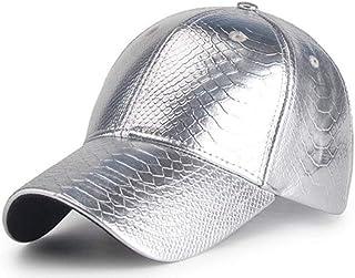 LX Gorra de béisbol de la PU para Hombres Mujeres Unisex Ajustable Hip Hop Rock Sombreros Acampar al Aire Libre Senderismo Viajes Sombrero del Sol sombreado