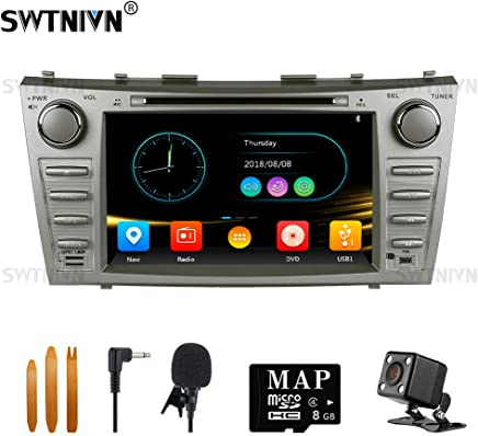 $179 Get SWTNVIN Car Stereo for 2007 2008 2009 2010 2011 Toyota Camry,Double Din 8 Inch in Dash Car Radio Support Navigation Bluetooth Audio DVD Play,Free Map Card & Backup Camera & Microphone (Wince 6.0)