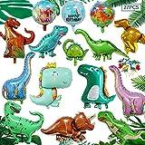 MEISHANG Palloncini Foil Dinosauro,Tema del Palloncino di Dinosauro,Dinosauro Gonfiabile Palloncino,Palloncino Dinosauro Compleanno,Palloncino Dinosauro 3D,Palloncini Dinosauro