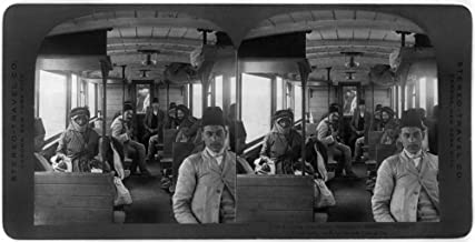 Posterazzi Poster Print Collection Train Third Class Carriage, Sultan'S Railway, Syria.' Stereograph, C1908, (24 x 36), Varies