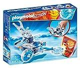 Playmobil Fire & Action Frosty de Hielo con Nave Lanzadera Muñecos y figuras, multicolor (6832)