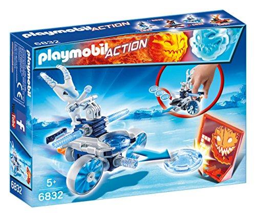 Playmobil Fire & Action- 6832 Frosty de Hielo con Nave Lanzadera Muñecos y figuras, Multicolor