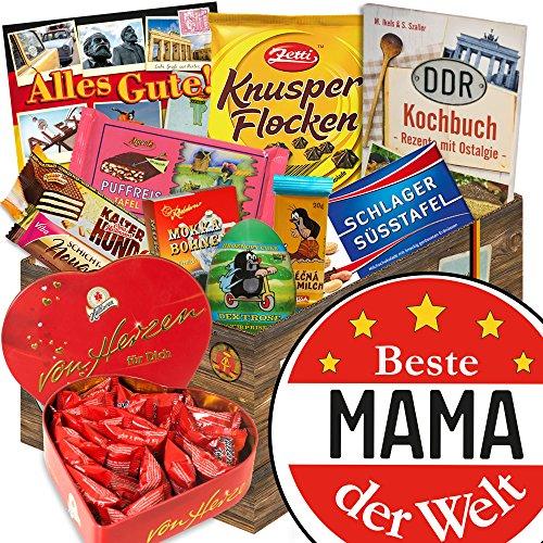 Beste Mama / Frauentagsgeschenke / mit Herzbox Halloren / Schoko Kultset DDR