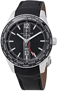 Hamilton H43725731 Broadway GMT Limited Edition Men's Watch Black Leather