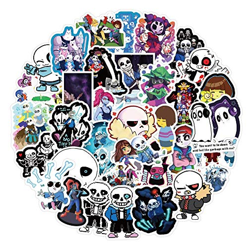 TUHAO Game Undertale Stickers For Children Gifts Waterproof DIY Phone Laptop Luggage Skateboard Case Graffiti Sticker Decals 50Pcs