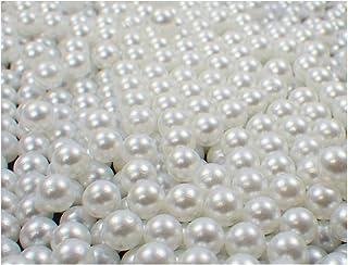 Loch 8 mm 50 Stk Dekoperlen Perlen m Wachsperlen Perlenschmuck Hochzeit Deko