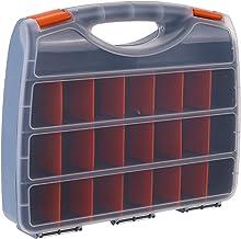 Staright Caixa de armazenamento de peças de plástico compartimentos múltiplos Slot Caixa de ferragens Organizador Ferramen...