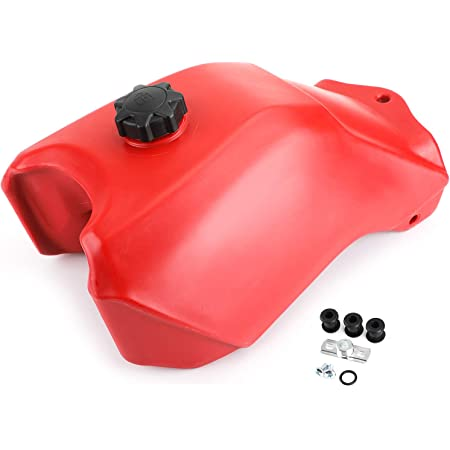 Topteng Motorcycle Fuel Gas Tank Fuel Petrol Gas Tank with Cap 16950-HC4-840 fits for Honda ATC250ES Big Red 250 1985 1986 1987 Three-Wheel ATVs