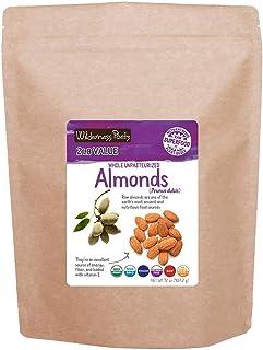 Wilderness Poets, Unpasteurized Almonds - Organic Raw Bulk Nuts - 2 Pound (32 Ounce)