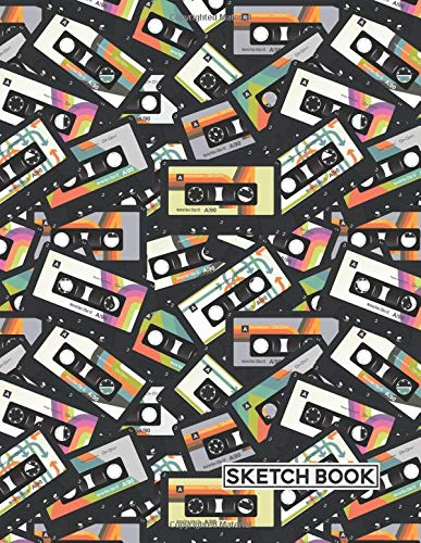Sketch Book: Cassette Tapes Retro | Personalized Artist Sketchbook | 109 Blank Pages | Sketching, Drawing and Creative Doodling | Notebook Journal to Draw In | Art Workbook