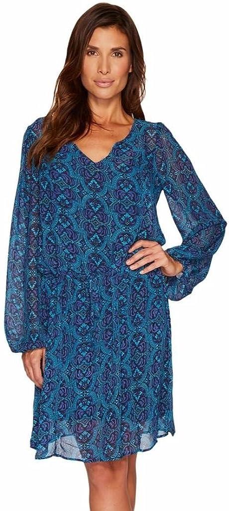 Stetson Women's 1309 Chiffon Print Dress Blue X-Small