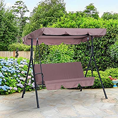 Outsunny-3-Seater-Canopy-Swing-Chair-Garden-Rocking-Bench-Heavy-Duty-Patio-Metal-Seat-wTop-Roof-Brown