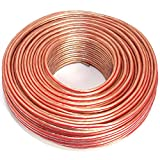 Cable de altavoz 2 x 2,50 mm², 50 m, transparente, CCA, cable de audio
