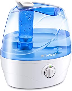 OTHWAY Cool Mist Humidifier 2.2 Liters (0.58 Gallon) Ultrasonic Quiet Humidification, Auto Shut Off, 360° Nozzle, Adjustable Mist, Filterless Humidifier for Bedroom Living Room Office Nursery Room
