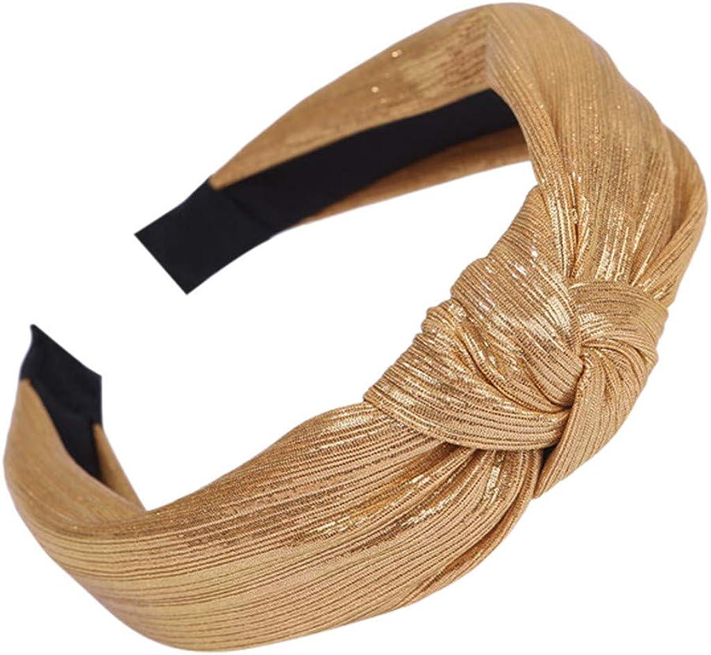 Kulywon Women's Headband Casual Fabric Hairband Head Wrap Hair Band Accessories 2021
