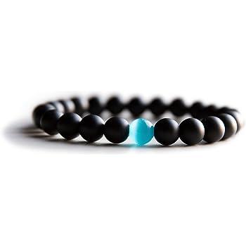 Benevolence LA Mens Beaded Bracelet   Semi Precious Gemstone Crystal Beaded Stretch Bracelet for Men   Men's Accessory Gift for All Occasion