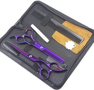 "Hairdressing Scissor Hairdresser thinning Scissor Set - 6"" Hair Cutting and Hair Scissor Men Women and Kids Stainless Stee..."