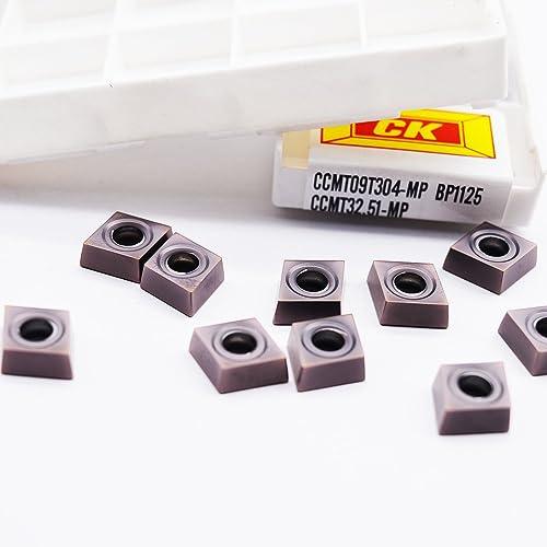 wholesale ZIMING-1 10pcs CCMT09T304-MP BP1125 CNC high quality Carbide Inserts outlet online sale tools online sale