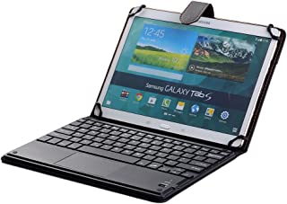 [SCIMIN] Universal 7 Inch to 10.5 Inch Bluetooth TrackPad Keyboard Cover TouchPad Keyboard Case for Android & Windows Tablets such as Samsung Galaxy Tab A 8.0, Samsung Galaxy Tab S 8.4, Samsung Galaxy Tab S2 8.0, Samsung Galaxy Tab Pro 8.4, Samsung Galaxy Tab 3 8.0, Samsung Galaxy Tab 4 8.0, Samsung Galaxy Note 8.0, Samsung Galaxy Tab 8.9, Acer Iconia One 8, Acer Iconia Tab 8 A1, Lenovo Tab 2 A8-50, Lenovo Tab S8, Lenovo A8-50 A5500, Asus Memo Pad 8, Asus ZenPad S 8.0, Sony Xperia Z3 Tablet Compact, LG G Pad II 8.0, LG G Pad 8.0, LG G Pad 8.3, Dell Venue 8, Dell Venue 8 Pro, Huawei MediaPad T1 8.0, Huawei MediaPad M1, Huawei MediaPad M2 etc......