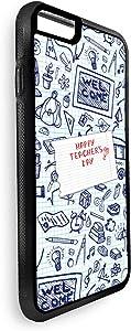 Decalac Apple Iphone 8 Printed Case,Happy Teachers Day Design,CVIP8-02205