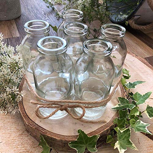 Xicaimen Homes on Trend Bulk Acquista Mini School Milk Glass Bottle Tea Party Wedding Baby Shower Bud Vase Set di 6