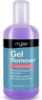 Mylee Quitaesmalte para Uñas de Gel con Acetona 250ml Limpiador Profesional de Uñas UV LED para Manicuras y Pedicuras. Ge...