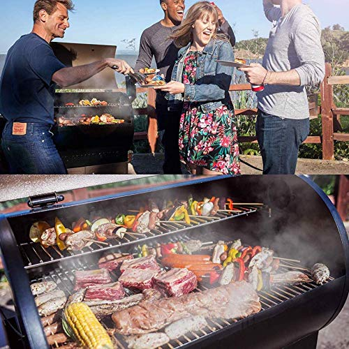 Z Grills ZPG-450A 2020 Upgrade Wood Pellet Grill & Smoker, 6 in 1 BBQ Grill Auto Temperature Control, 450 sq inch Cooking Area, Bronze & Black Cover Included