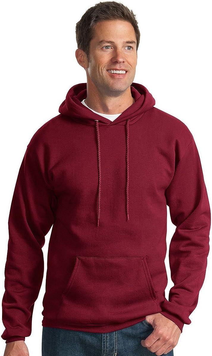 Port & Company Men's Hooded Fleece Sweatshirt,XXXX-Large,Cardinal