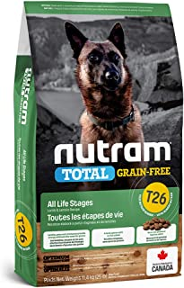 Nutram T26 Total Grain-Free Lamb & Lentils Dog Food, 11.4KG