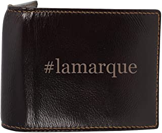 #lamarque - Genuine Engraved Hashtag Soft Cowhide Bifold Leather Wallet