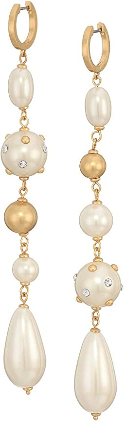 Pearls Pearls Pearls Linear Huggies Earrings