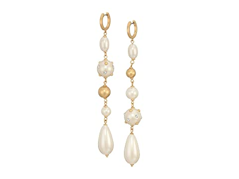 Kate Spade New York Pearls Pearls Pearls Linear Huggies Earrings