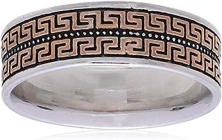 خاتم خطوبة من الفضة الاسترلينية للرجال من اتيك