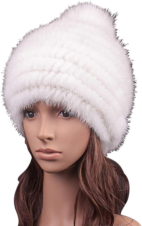 ClimbUp Fox Fur Ball + Mink Fur Hat ¨C Womens Winter Pompom Knit Fashion Hats Warm Skullies Beanie