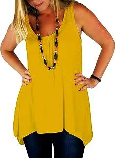 Womens Hanky Top Summer Gathered Ladies Plus Size 8-26 Vest Hem Flared