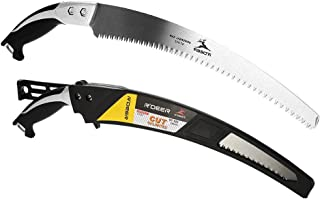 GLOGLOW Pruning Saw Curved Saw Practical Portable Pruning Saw for Trimming Trees Branches with Aluminous Handle Gardening Orchard Pruning Cutting Tool