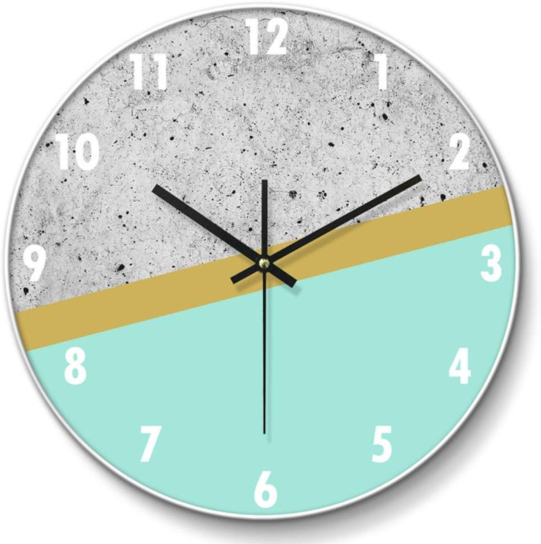 LQUIDE Mobiliario Clockhome de Parojo Reloj de Parojo Retro sin garrapatas Reloj Decorativo Panel de Vidrio Estilo Moderno