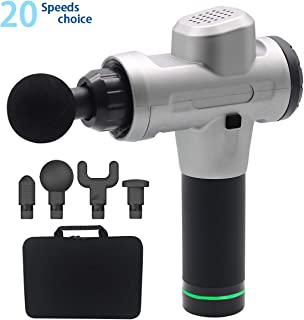 Zantbaylor Massage Gun for Athletes Portable Device Helps Relieve Muscle Soreness and Stiffness with 4 Replacement Massage Heads and Storage Box