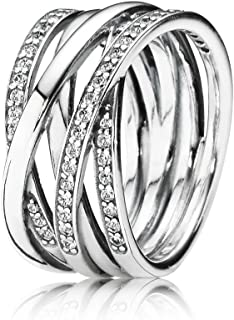 潘多拉女式戒指925标准纯银,带白色氧化锆190919CZ