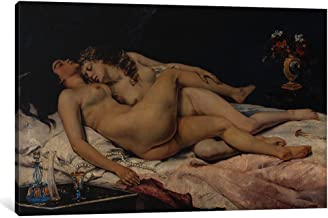 iCanvasART 1-Piece Le Sommeil, 1866 Canvas Print by Gustave Courbet, 1.5 by 60 by 40-Inch
