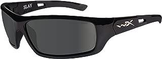 Wiley X Slay Sunglasses, Polarized Smoke Grey, Gloss Black