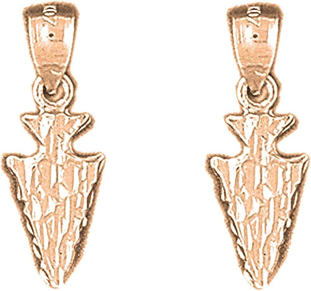 Jewels Obsession Western Earrings 14K Arrowhead Max 41% OFF Gold wholesale Leve Rose