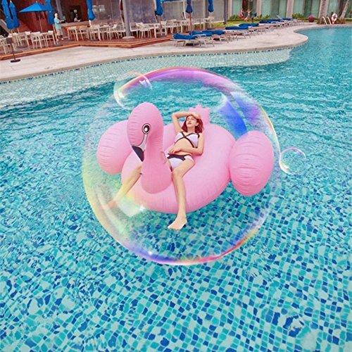 Missley Großes aufblasbares Flamingo Schwimmer- Floatie Ride On Rideable Blow Up Sommer Spaß Pool Spielzeug Liege Floatie Raft für Kinder & Erwachsene (Flamingo-190)