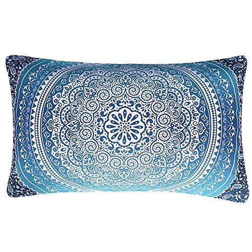 Bohemia Rectangle Printing Throw Pillow Covers Cushion Case Home Decor for Livingroom Sofa Car Bedroom With Invisible Zipper 20X12 Inches