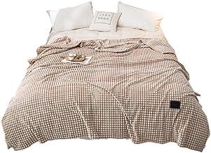 Effen kleur geruite fluweel gooien deken zachte gezellige flanel pluche warme bed cover warme pluche airconditioning deken