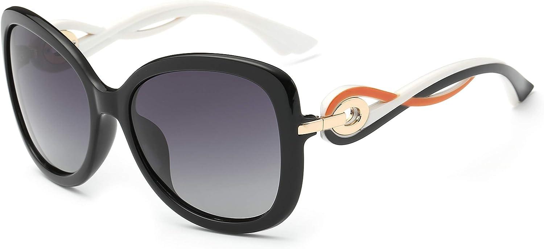 Cateye Classic Oversized Polarized Sunglasses for Women 100% UV Predection