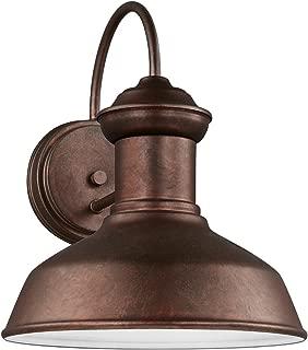 Sea Gull Lighting 8547701-44 Fredricksburg One-Light Outdoor Wall Lantern, Weathered Copper Finish