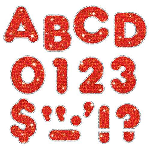 TREND ENTREPRISES T-79622 Red Sparkle PLUS 2 Ready Letters