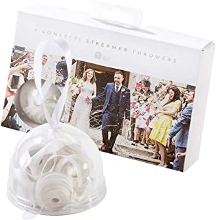 Talking Tables Modern Romance White 'No Mess' Streamer Confetti Throwers for a Wedding or Celebration